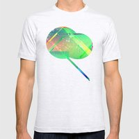Digital Abstract  Mens Fitted Tee Ash Grey SMALL