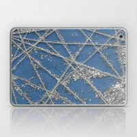 Sparkle Net Blue Laptop & iPad Skin