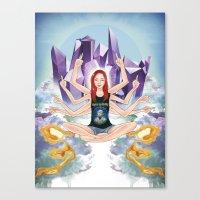 Inessa of IDGAF Canvas Print