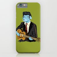 iPhone Cases featuring The Rockabilly Dog by Oliver Lake