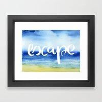 Escape [Collaboration Wi… Framed Art Print