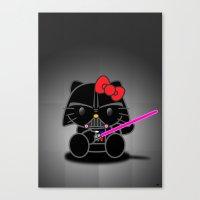 Dark Kitten Canvas Print