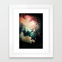 Bursts Of Light. Framed Art Print