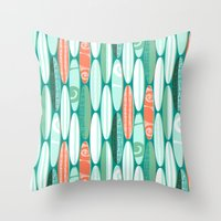 Simply Surf Boards Throw Pillow