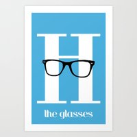 H is for Glasses - H is for Hipster Series Art Print