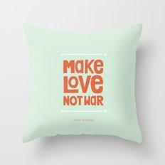Make Love, Not War Throw Pillow