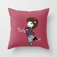 Touch Me ! Throw Pillow