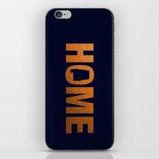 Alabama home state faux copper foil print iPhone & iPod Skin