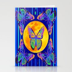 Contemporary Blue Moon L… Stationery Cards