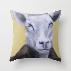 Sheep Portrait Throw Pillow