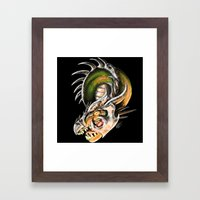 Armored Dragon Framed Art Print