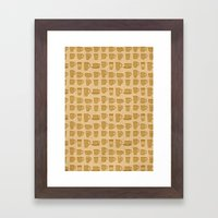 Coffee Stained Framed Art Print