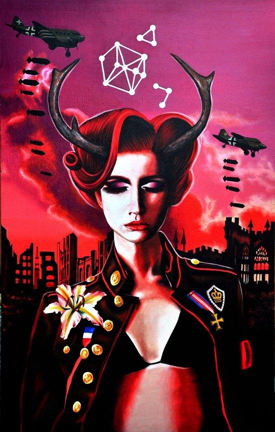 Death by Vermillion Art Print