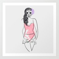 Dead Beauty Art Print