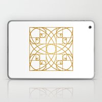 Golden Flower Laptop & iPad Skin