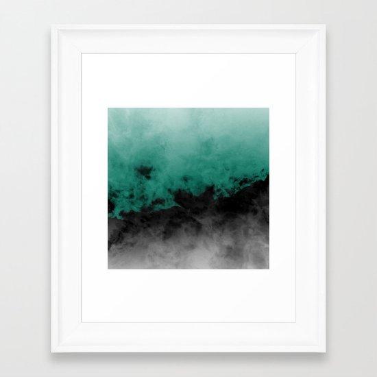 Zero Visibility Emerald Framed Art Print