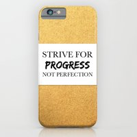 Strive for progress, not perfection iPhone 6 Slim Case