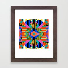 time warp test Framed Art Print