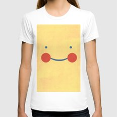 Smile Womens Fitted Tee White SMALL
