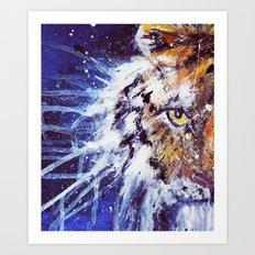 Tiger Painting Art Print