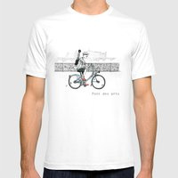 A Few Parisians: Pont des Arts Mens Fitted Tee White SMALL