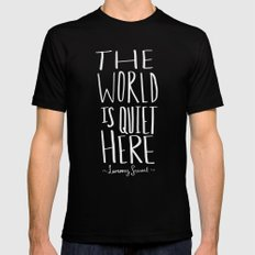 Quiet Black Mens Fitted Tee SMALL