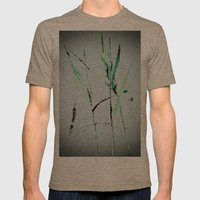 Water Reed Digital Art 3… Mens Fitted Tee Tri-Coffee SMALL