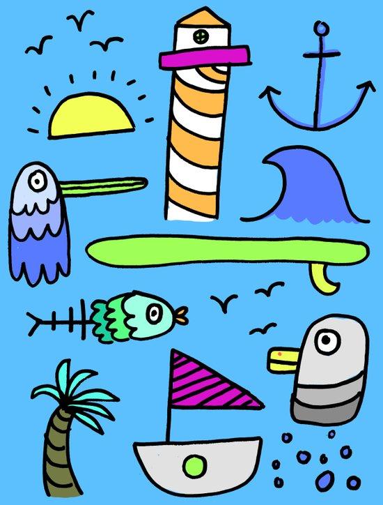 Sea Things  Art Print