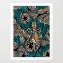 Fox (Feat. Bryan Gallardo) Art Print