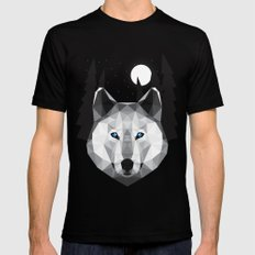 The Tundra Wolf SMALL Black Mens Fitted Tee