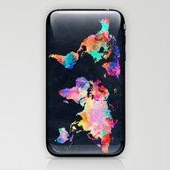 iPhone & iPod Skin featuring World Map by Bekim ART
