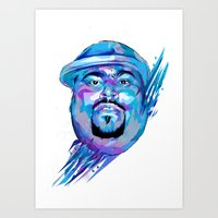 Big Pun : Dead Rappers Serie Art Print