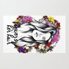 Flowers in her hair Rug