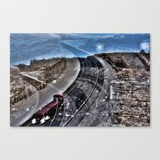 Highway Choices Canvas Print