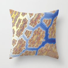 Fractal Lava Flows Throw Pillow