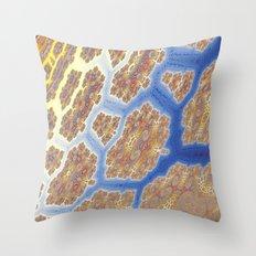 Fractal Lava Flows Throw Pillow