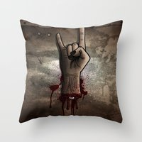 The Rocking Dead Throw Pillow