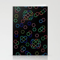 Hexagon Darkness Stationery Cards