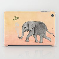 Elephant And The Bird iPad Case