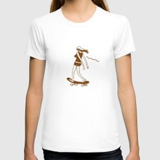 Surfin on a hot pocket Womens Fitted Tee White SMALL