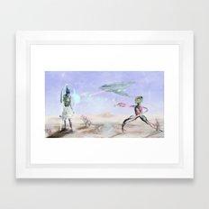 The Company Attacks  Framed Art Print