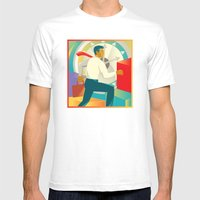 Businessman Officer Work… Mens Fitted Tee White SMALL