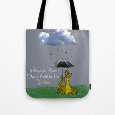 Raining Rainbow Dragon Tote Bag