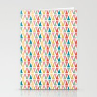 Hexagon floral 3 Stationery Cards