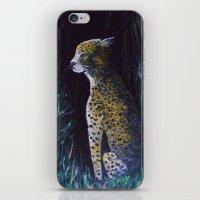 Cheetah In Moonlight iPhone & iPod Skin