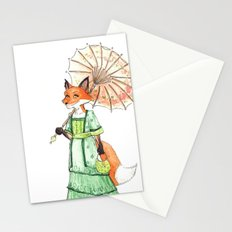 Lady Fox Stationery Cards