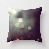 Bokeh @ Night Throw Pillow
