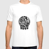 Time Bomb (Inverted) Mens Fitted Tee White SMALL