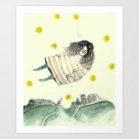 Floating  Art Print