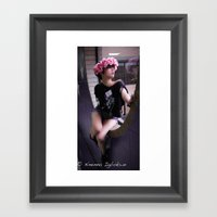 Sexy In The Window Framed Art Print
